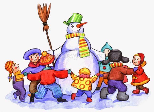 хоровод вокруг снеговика